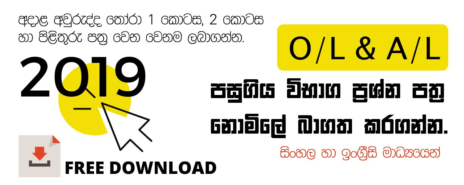 ICT Past Paper with Marking Scheme both in Sinhala and English Medium
