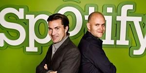 Daniel Ek and Martin Lorentzon - Spotify founders