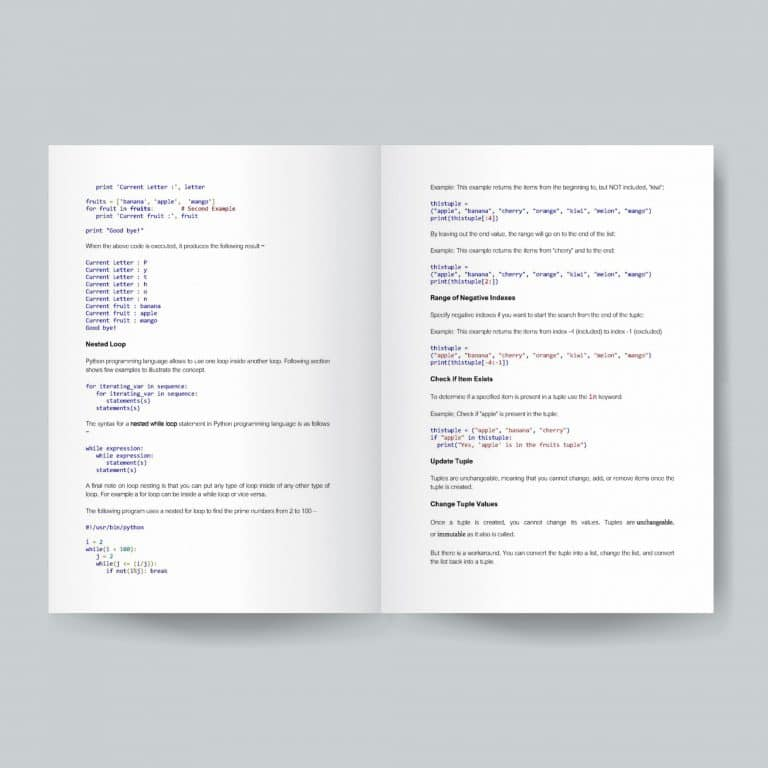 AL ICT Python Programming Book Table of Content